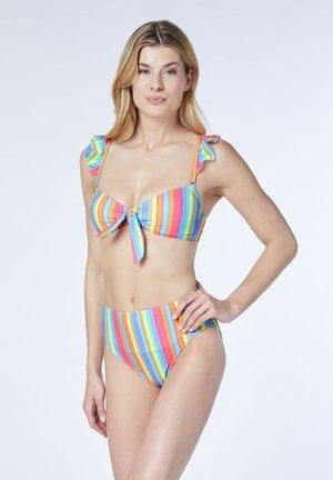 SET - Bikini - yellow/pink aop