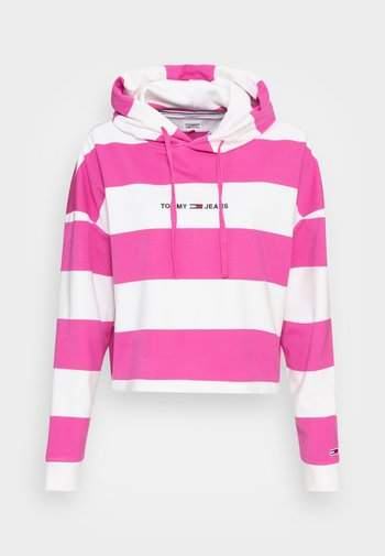 LINEAR  HOODIE - Sweatshirt - vivid fuchsia/multi