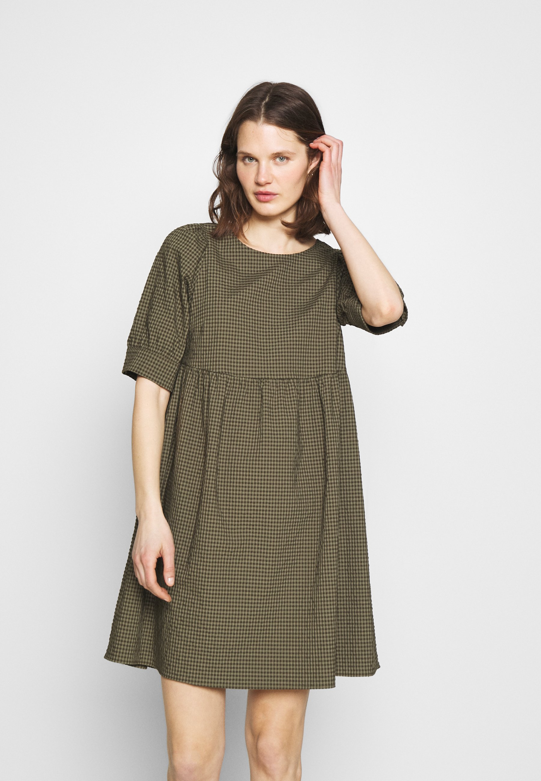 Women DRESS BUTTON PLACKET AT BACK - Day dress