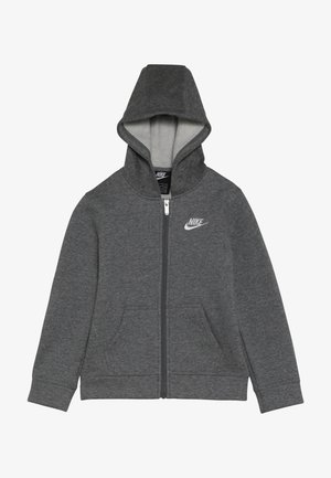 CLUB HOODIE - Huvtröja med dragkedja - carbon heather