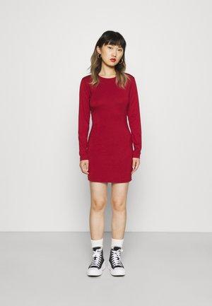 LONGSLEEVE BODYCON MINI DRESS - Day dress - biking red