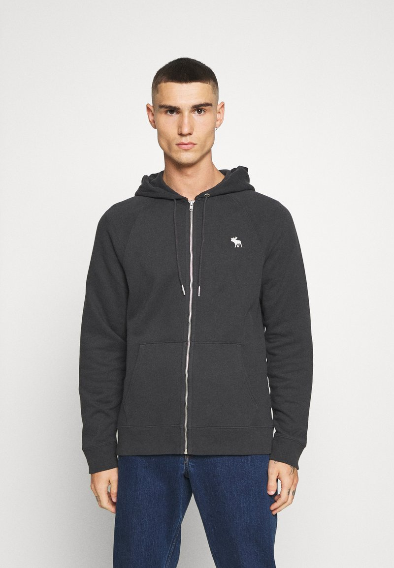 Abercrombie & Fitch - ICON FULLZIP - Jersey con capucha - anthrazit