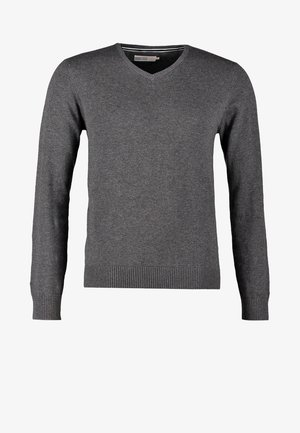 Strickpullover - dark grey melange