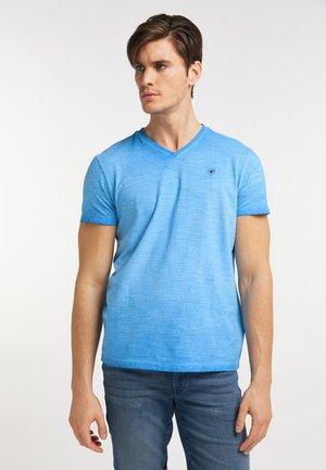 Jednoduché triko - electric blue