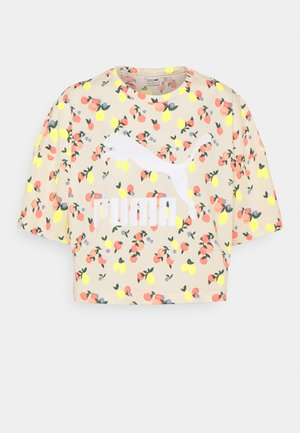 BOYFRIEND TEE - T-shirt med print - eggnog