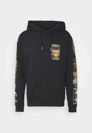 PRINTED HOODIE - Sweatshirt - black