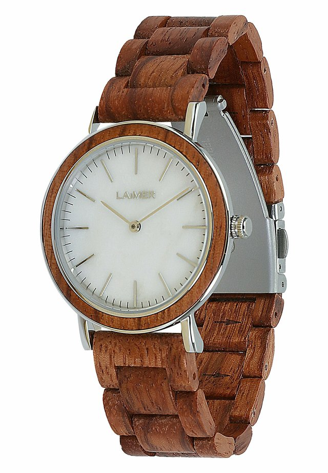 LAIMER QUARZ HOLZUHR - ANALOGE ARMBANDUHR ELSA - Montre - red brown