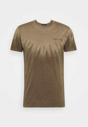 T-shirt con stampa - olive  military