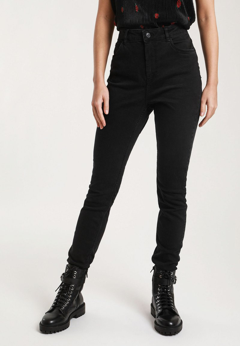 Pimkie - HIGH WAIST - Jeans Skinny Fit - black