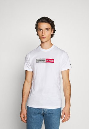 METALLIC GRAPHIC TEE - Print T-shirt - white