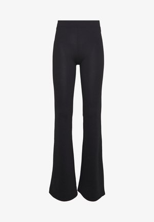 ONLFEVER FLAIRED PANTS - Trousers - black