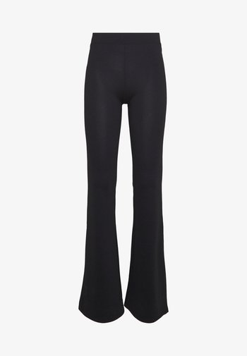 ONLFEVER FLAIRED PANTS - Pantaloni - black