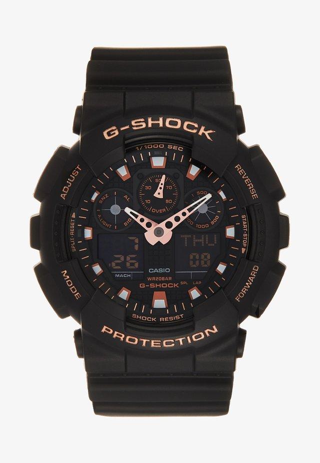 Digital watch - black/rosegold-coloured