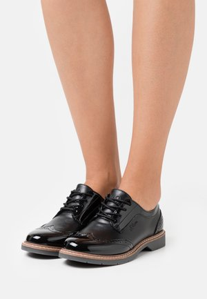 LACE UP - Oksfordki - black