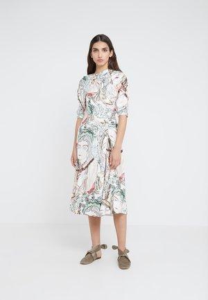 PRINTED ASYMMETRICAL WRAP DRESS - Juhlamekko - white/multi