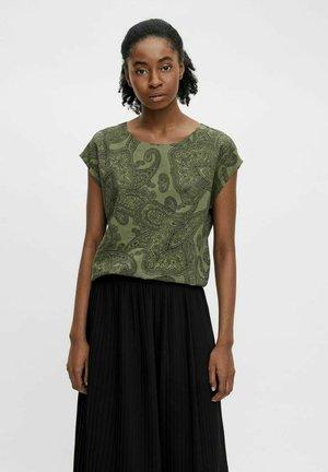OBJADILLA TOP - Print T-shirt - green light green