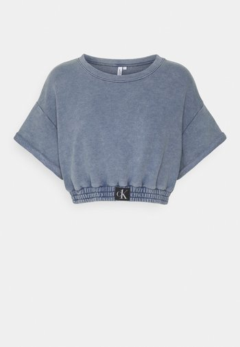 AUTHENTIC CROPPED - Pyjama top - blue