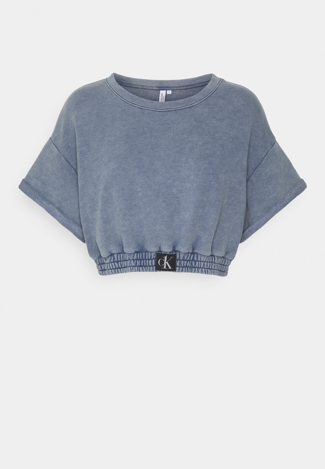 AUTHENTIC CROPPED - Pyžamový top - blue