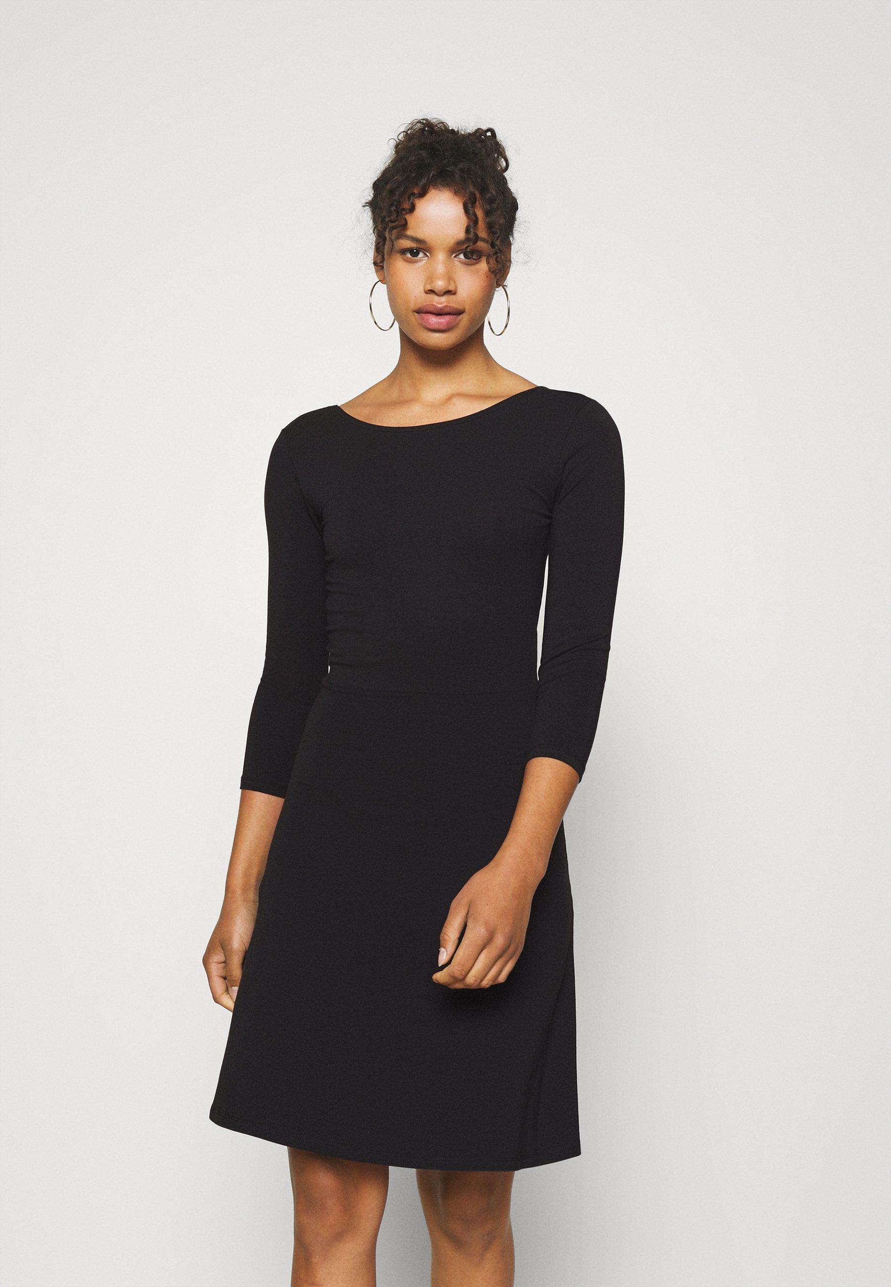 Women ONLLIVE LOVE LACE UP SKATER DRESS  - Jersey dress