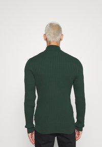 Zign - Stickad tröja - dark green - 2