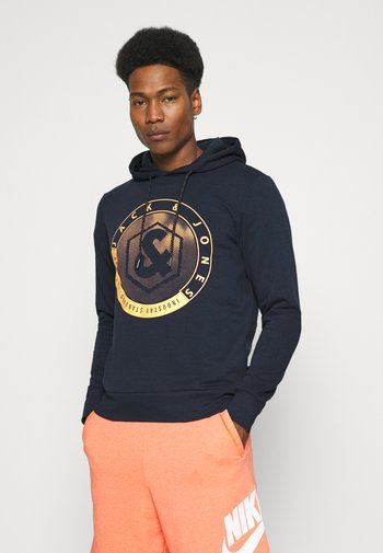 JJSHAPE HOOD - Hoodie - navy blazer