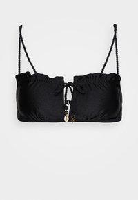 ADRIANA BANDEAU - Bikini top - black