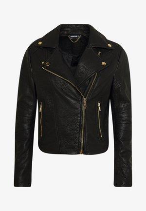 NMDORA JACKET - Veste en cuir - black