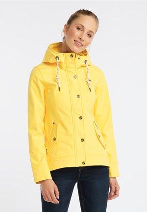 TRENDIGER SOFTSHELL-ANORAK - Vodotěsná bunda - pale yellow