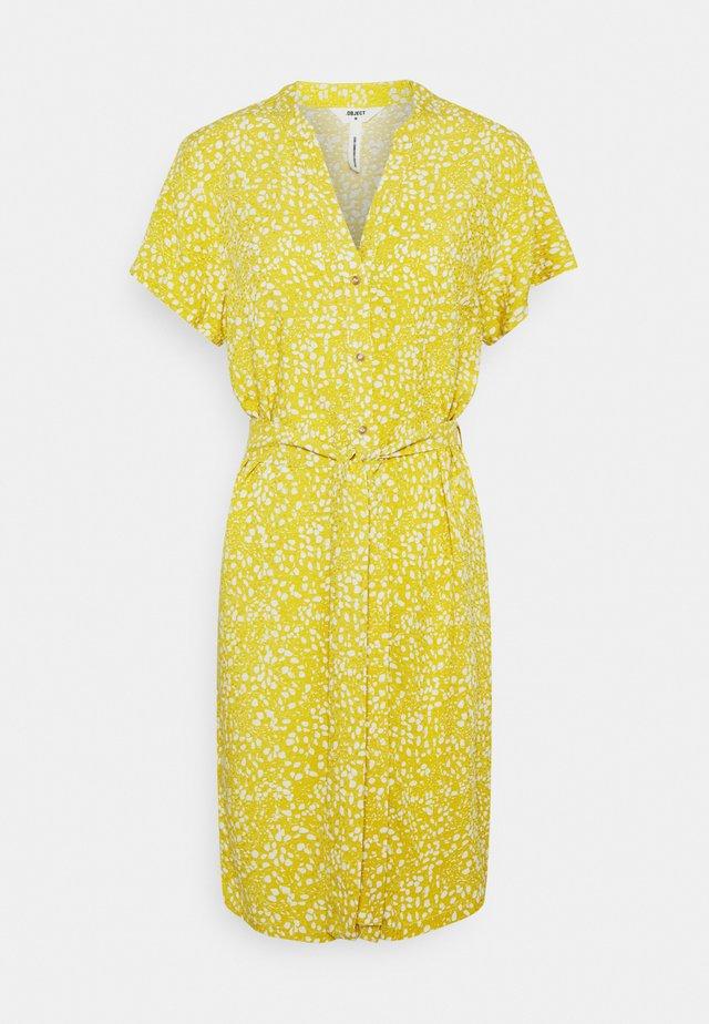 OBJHESSA BIRDY DRESS - Korte jurk - bamboo