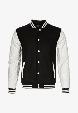 OLDSCHOOL COLLEGE - Light jacket - black / white