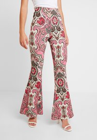 Free People - HARPER PRINTED PULL ON - Trousers - pink - 0