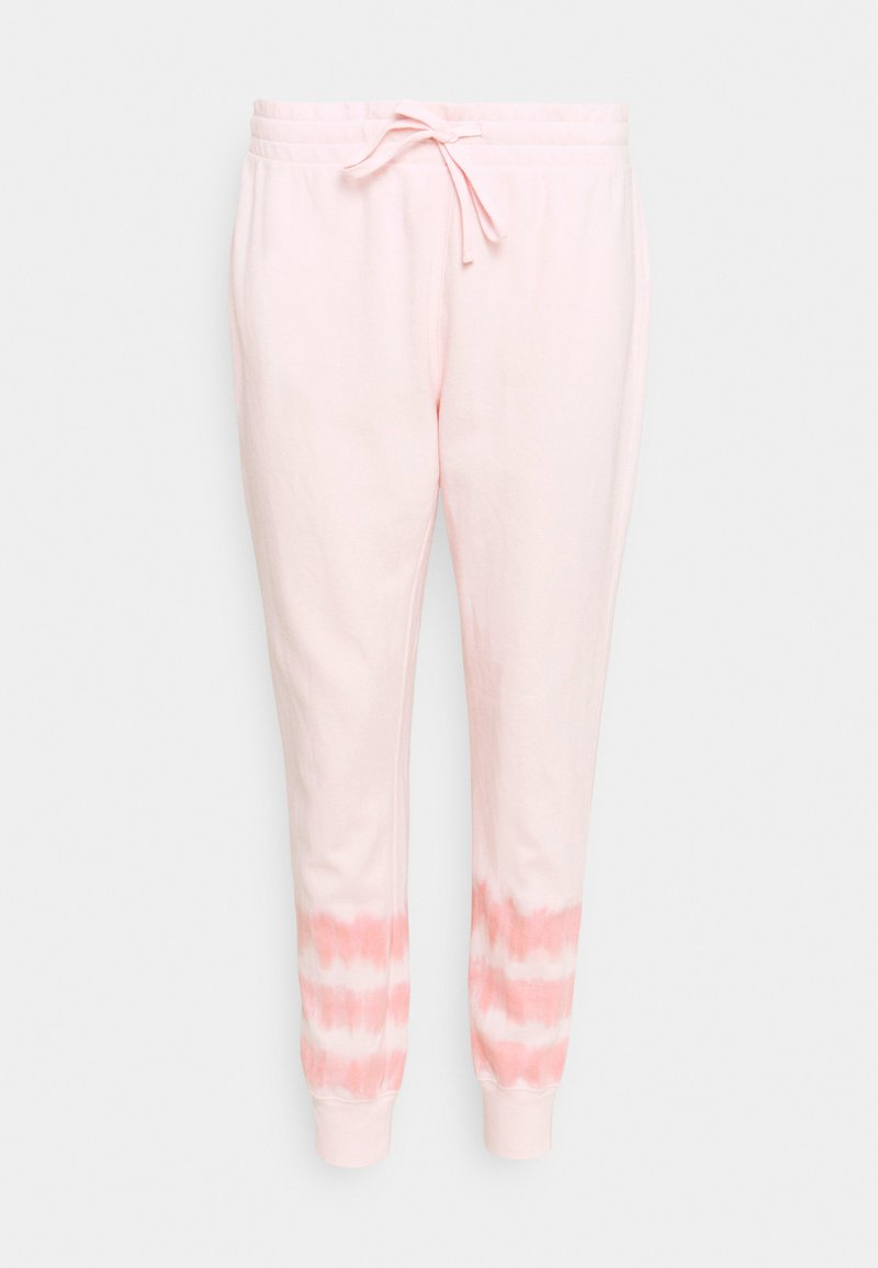 GAP - TIE DYE - Tracksuit bottoms - pink