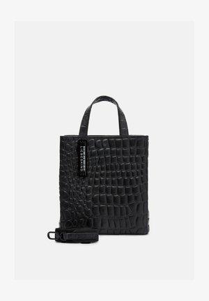 MIT KROKOPRÄGUNG - Handbag - black