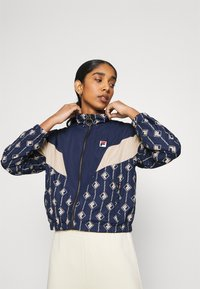 Fila - HARINI JACKET - Summer jacket - black iris/irish cream - 0