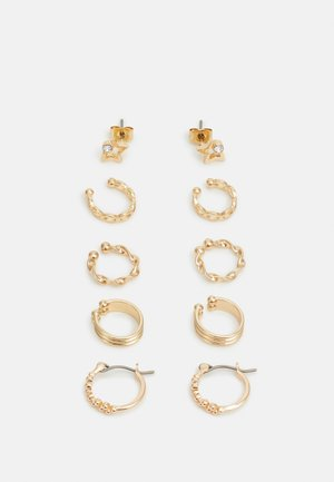 PCKLARY EARRINGS 5 PACK - Øreringe - gold-coloured