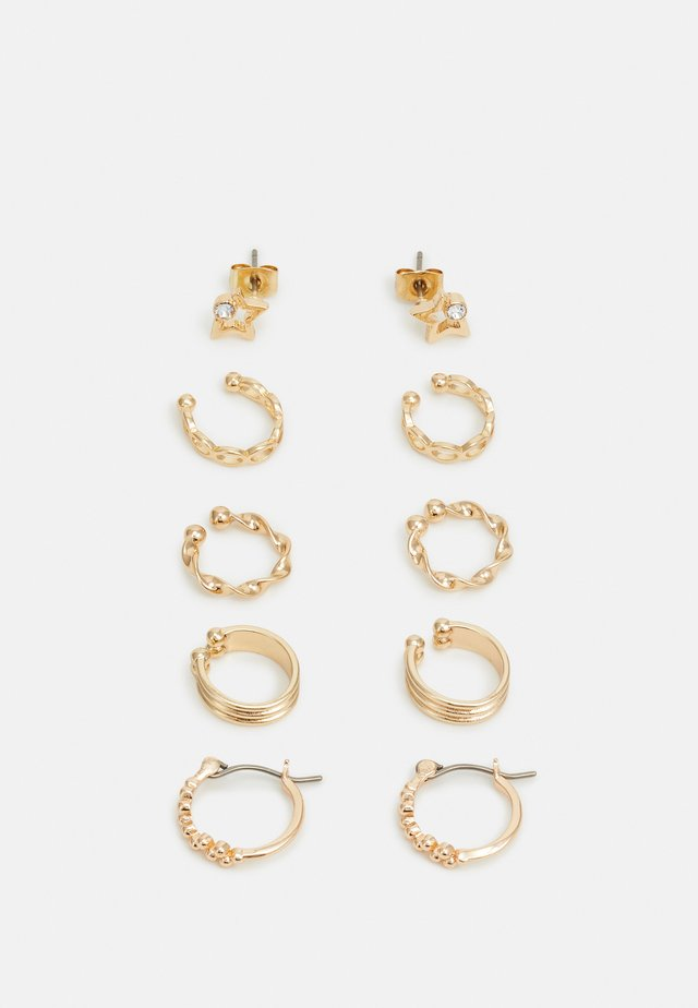 PCKLARY EARRINGS 5 PACK - Kolczyki - gold-coloured