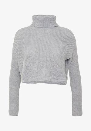 ROLL NECK CROP JUMPER - Pullover - grey