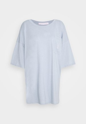 PLAYBOY REPEAT LOGO OVERSIZED POCKET - T-shirt z nadrukiem - dusky blue