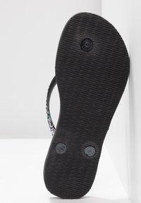 Havaianas - SLIMCARNAVAL - T-bar sandals - black - 6