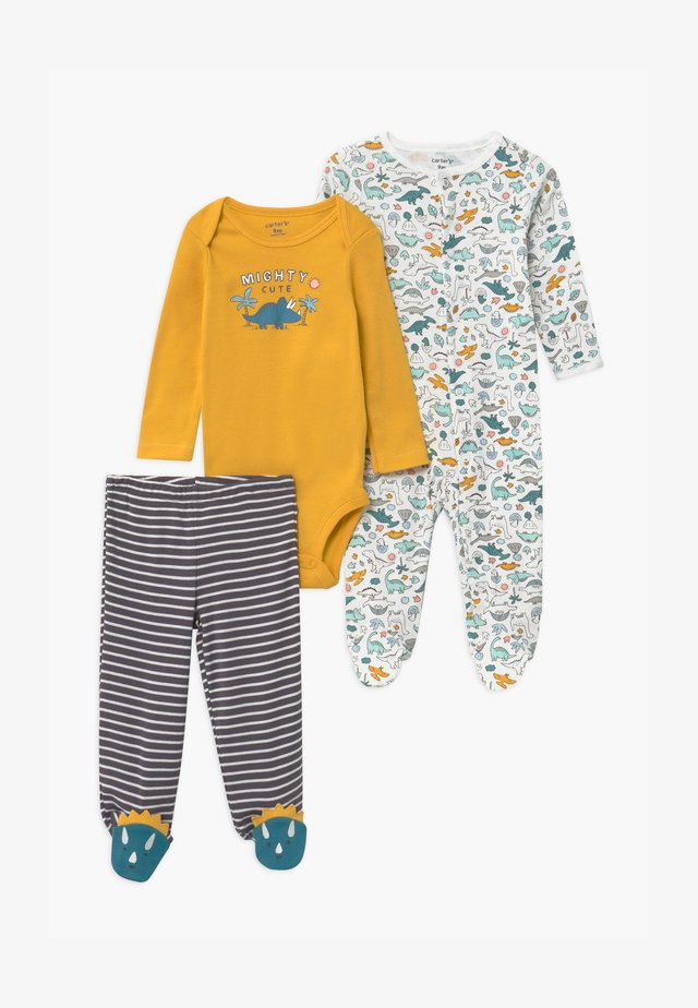 GOLD SET - Sleep suit - yellow/grey/teal