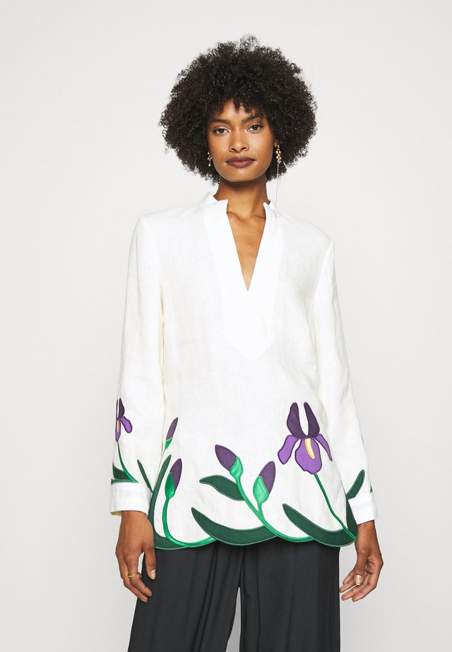 IRIS EMBROIDERED TORY TUNIC - Blouse - new ivory