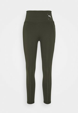NU-TILITY HIGH WAIST 7/8 LEGGINGS - Punčochy - forest night