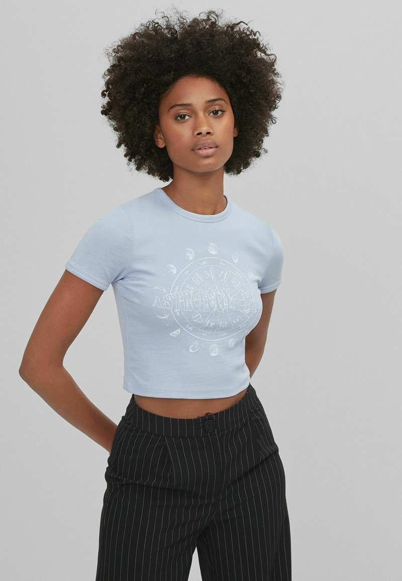 Bershka - T-shirt print - dark blue