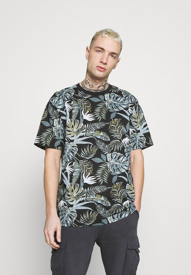 ONSMELODY LIFE TEE - T-shirt z nadrukiem - black