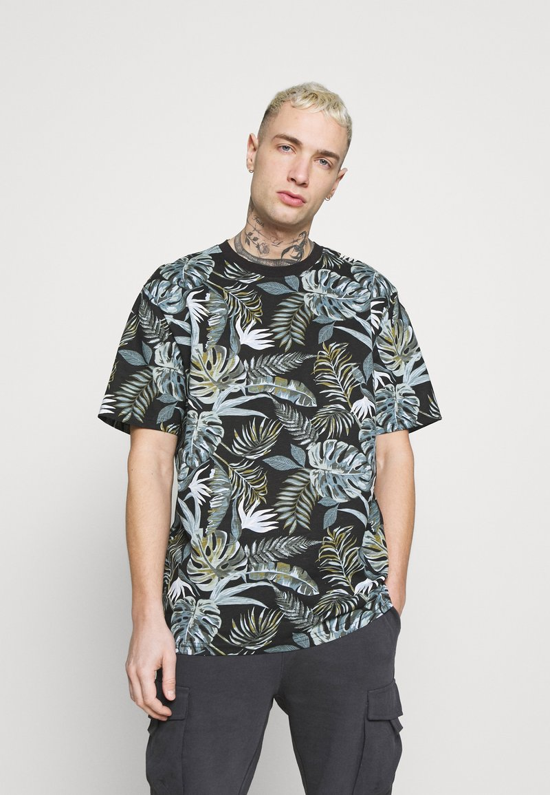 Only & Sons - ONSMELODY LIFE TEE - Print T-shirt - black
