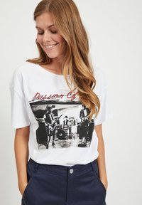 Vila - Print T-shirt - optical snow - 3
