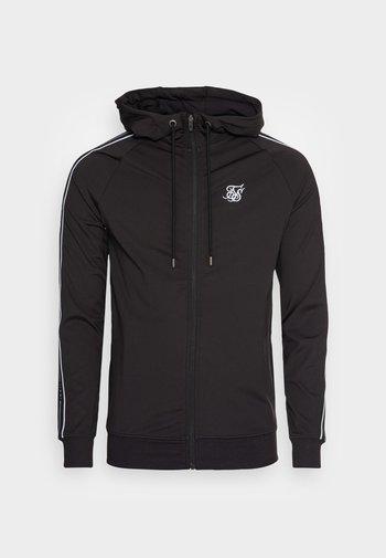 STATUS TAPE ZIP THROUGH HOODIE - Zip-up sweatshirt - black