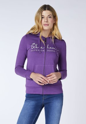 REGULAR FIT - Zip-up hoodie - purple heart