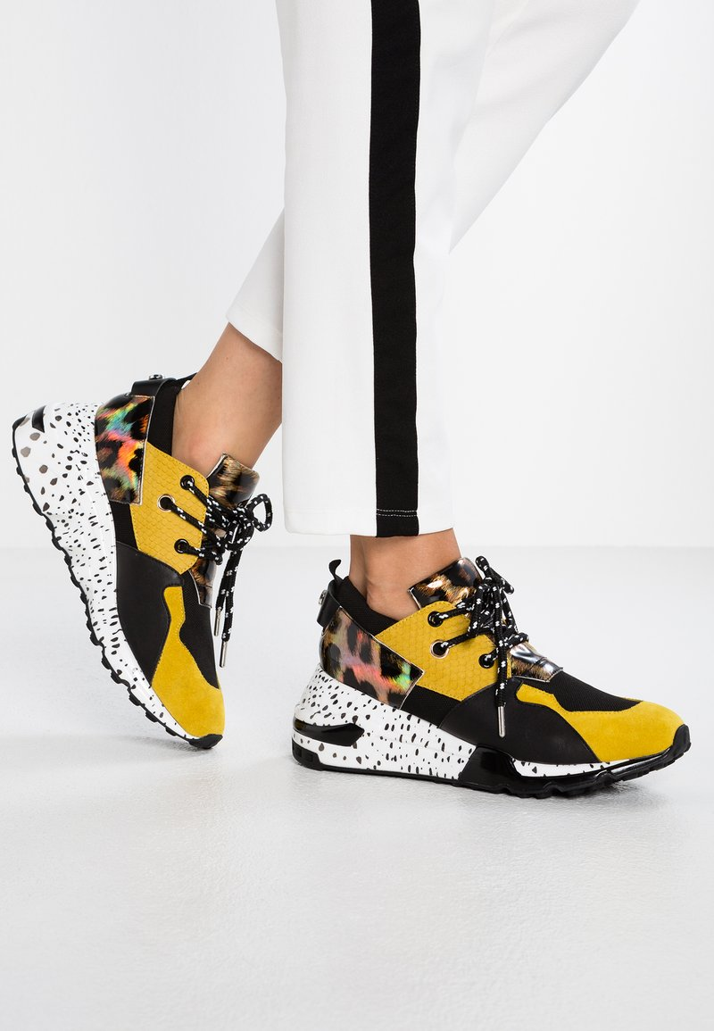 Steve Madden - CLIFF - Joggesko - yellow/multicolor