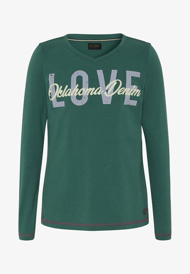 MIT V-AUSSCHNITT  - Long sleeved top - green